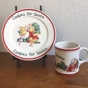 Vintage Cookies & Milk for Santa/ Winnie the Pooh